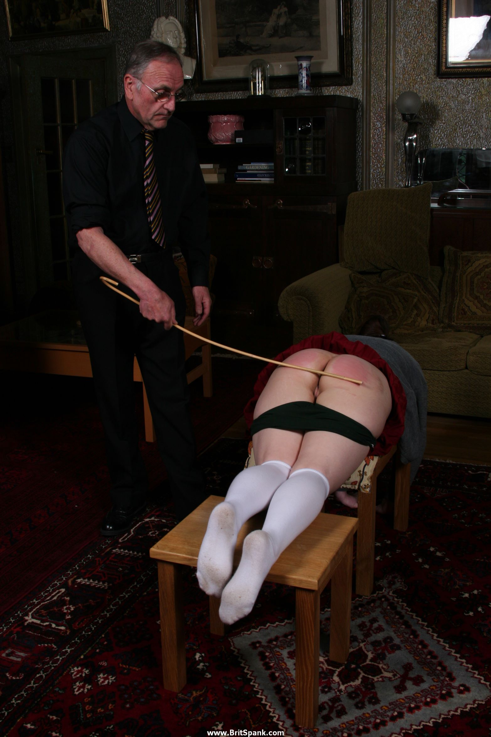 buttocks Caning bare