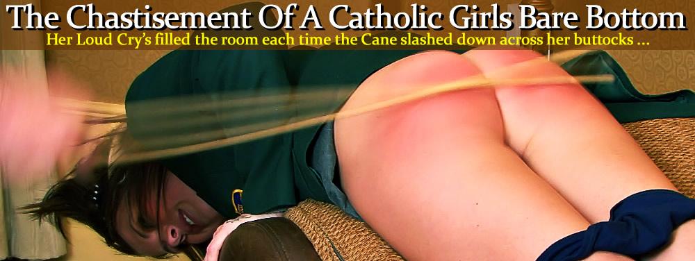 Girl bare bottom caned